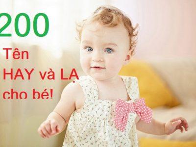 100 tên hay và lạ cho bé